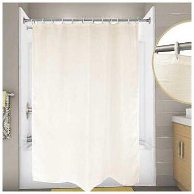 Premier Faucet Cotton Premier Waffle Shower Curtain; Champagne
