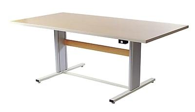 Populas 72'' W Infinity Height Adjustable Training Table; American Maple