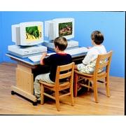 Childcraft Wood Adjustable Height Student Computer Desk
