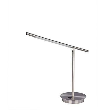 Fangio Lighting Metal Table Lamp, Satin Chrome (1452SC)