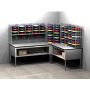 Charnstrom 68 Compartment Mailroom Organizer; 60.25'' - 72.25'' H x 96'' W x 84'' D