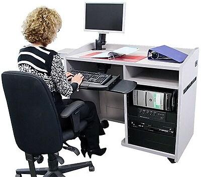 VFI Computer Desk; Maple