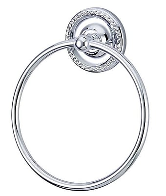 Kingston Brass Laurel Wall Mounted Towel Ring; Polished Chrome