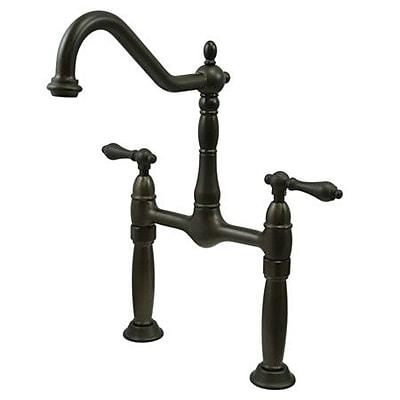 Kingston Brass Victorian Widespread Vessel Sink Faucet; Oil Rubbed Bronze