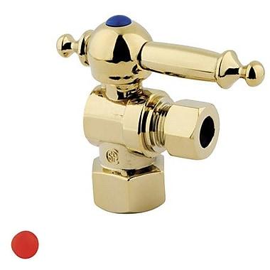 Kingston Brass Vintage Angle Stop; Polished Brass