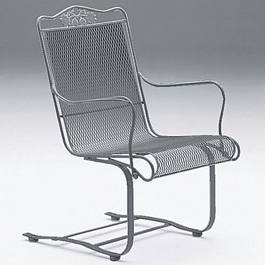 Woodard Briarwood High Back Patio Dining Chair; Hammered Pewter