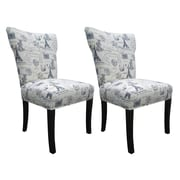 Sole Designs Bella Side Chair (Set of 2); Blue