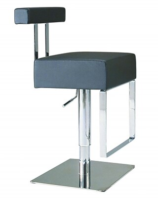 Chintaly Adjustable Height Swivel Bar Stool; Black