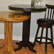 ECI Furniture Adjustable Height Pub Table; Distressed Walnut
