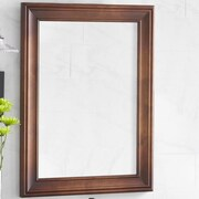 Ronbow Traditional 24'' x 32'' Solid Wood Framed Bathroom Mirror in Colonial Cherry
