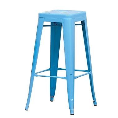 Hokku Designs Stilletta 30'' Bar Stool (Set of 2); Blue