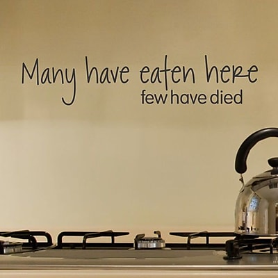 Belvedere Designs LLC Many Have Eaten Here Wall Quotes Decal