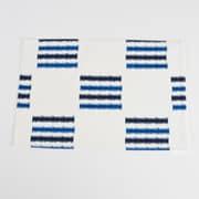 Saro Sonya Line Design Fused Placemat (Set of 4); Cobalt Blue