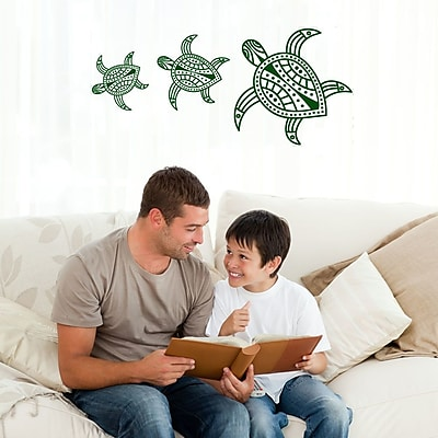 Style and Apply Turtles Wall Decal; White