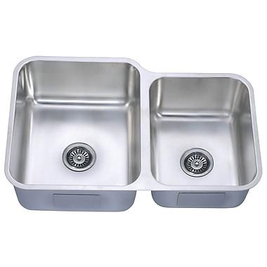 Dawn USA 32'' x 20.63'' Under Mount Double Bowl Kitchen Sink