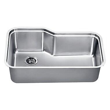 Dawn USA 32.75'' x 20.25'' Under Mount Single Bowl Kitchen Sink