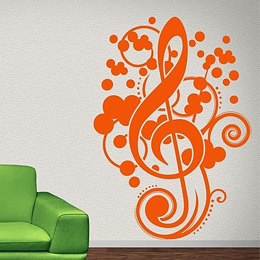 Style and Apply Clef Music Wall Decal; Green