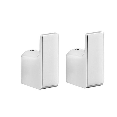 Gedy by Nameeks Pirenei Wall Mounted Bathroom Robe Hook (Set of 2)