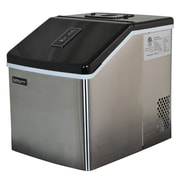 Luma Comfort Portable Clear Ice Maker; 28 lbs/Day, Stainless Steel & Black (IM200SS)