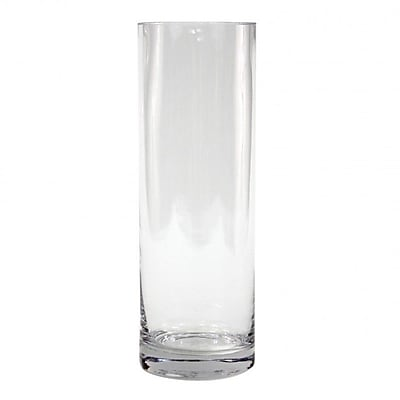 Koyal Wholesale Cylinder Glass Vase (Set of 12); 12'' H x 4'' W x 4'' D WYF078277715219