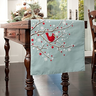 Pillow Perfect Holiday Cardinal Branch Table Runner