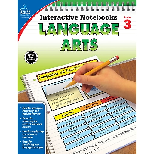 Interactive Notebooks Language Arts Grade 3 Resource Book Paperback(104654)