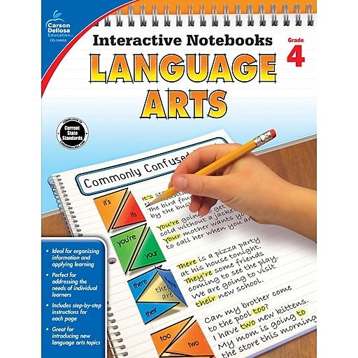 Interactive Notebooks Language Arts Grade 4 Resource Book Paperback (104655)
