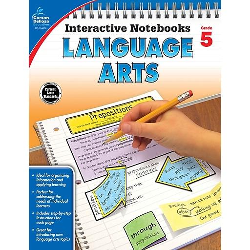 Interactive Notebooks Language Arts Grade 5 Resource Book Paperback (104656)