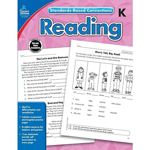 Standards-Based Connections Reading Grade K Workbook Paperback (104657)