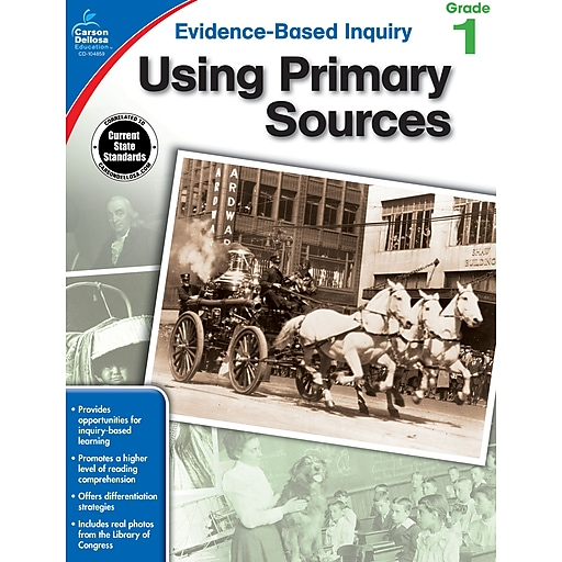 Evidence-Based Inquiry Using Primary Sources Grade 1 Workbook Paperback (104859)