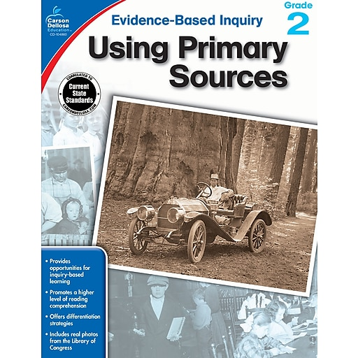 Evidence-Based Inquiry Using Primary Sources Grade 2 Workbook Paperback (104860)