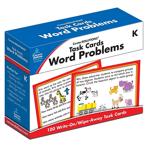 Carson-Dellosa Task Cards: Word Problems K Learning Cards (140100)