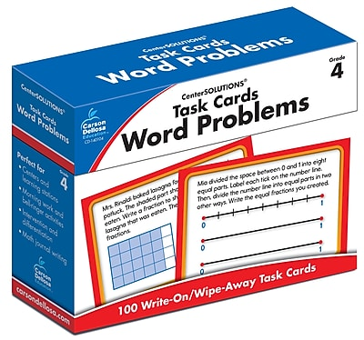 Carson-Dellosa Task Cards: Word Problems Grade 4 Learning Cards (140104)