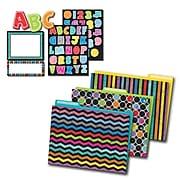 Carson-Dellosa Colorful Chalkboard Multi-Color Organization Set (144925)