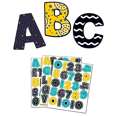 Carson-Dellosa Black, White & Bold Large and Small Letters Set (144936)
