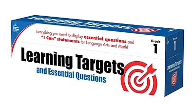 Learning Targets and Essential Questions Grade 1 Pocket Chart Cards (158058)