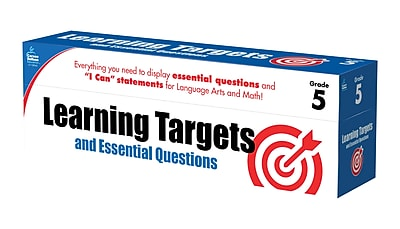Learning Targets and Essential Questions Grade 5 Pocket Chart Cards (158062)
