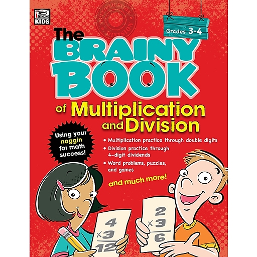 Brainy Book of Multiplication and Division Grades 3-4 Workbook Paperback (704666)