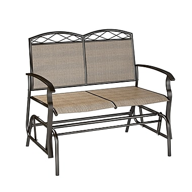 CorLiving PZT-325-G Speckled Brown Patio Double Glider