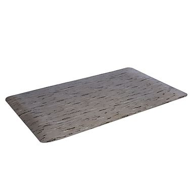 Floortex— Tapis coussiné antifatigue FCSTP2436G, 24 x 36 po, motif marbre noir