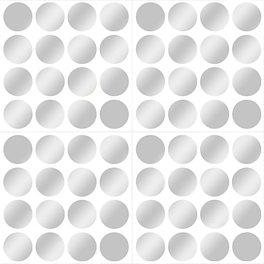 Wall Pops Confetti Dot Packs, Silver, 64/Pack