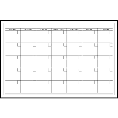 Wall Pops Dry Erase Large Monthly Calendar, 36