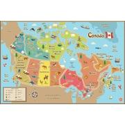 WallPopsMD – Carte du Canada à effacement à sec pour enfants