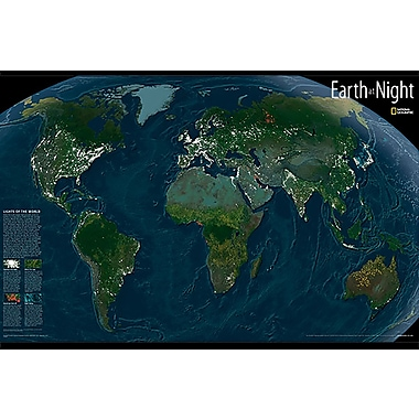 Wall Pops – Glow In The Dark Maps, Earth At Night