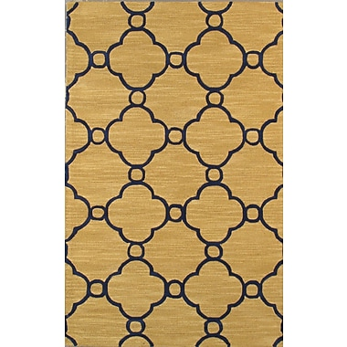 Pasargad Venice Hand Tufted Transitional Gold Area Rug