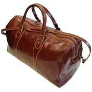 Floto Imports Milano 20'' Leather Travel Duffel; Vecchio Brown