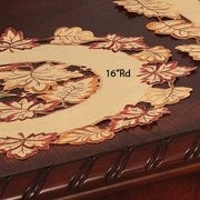 Xia Home Fashions Bountiful Leaf Embroidered Cutwork Harvest Placemat (Set of 4); 16'' W x 16'' L