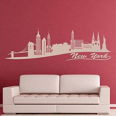 Style and Apply New York Skyline Wall Decal; Pastel Orange