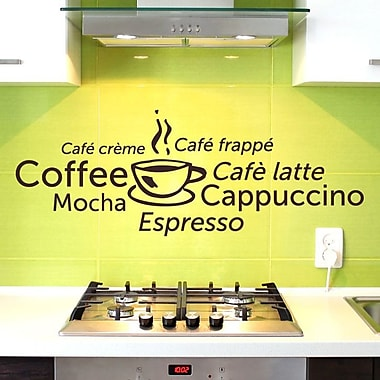 Style and Apply Coffee World Wall Decal; Royal Blue