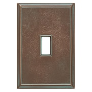 RQ Home Classic Magnetic Single Toggle Wall Plate; Antique Bronze Verdigris